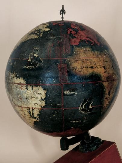 Chinese Terrestrial Globe, drawn and painted in 1623. By Manuel Dias and Nicolo Longobardi, probably in Beijing.