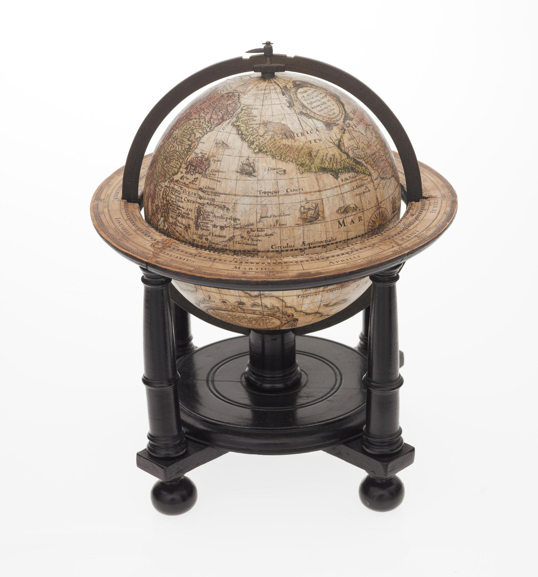 Willem Janszoon Blaeu, Nova et accurata Terrae Marisq. Sphaera, denuo recognita et correcta à Gulielmo Blaeu.Amsterdam, 1606 (1621)