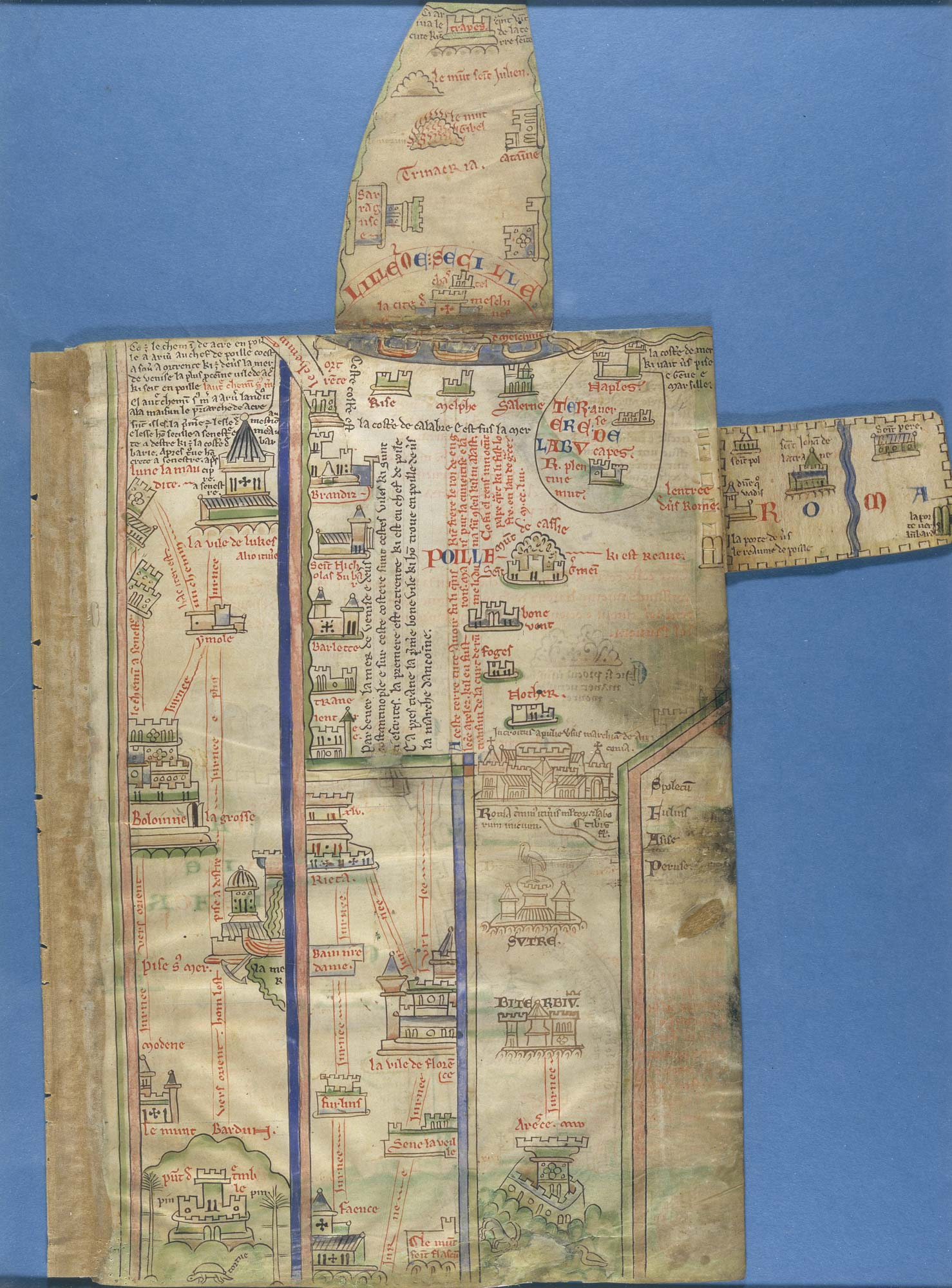 Matthew Paris's itinerary map - The British Liry on ancient egypt world maps, assassin's creed flag maps, knights templar travel maps, religion world maps,