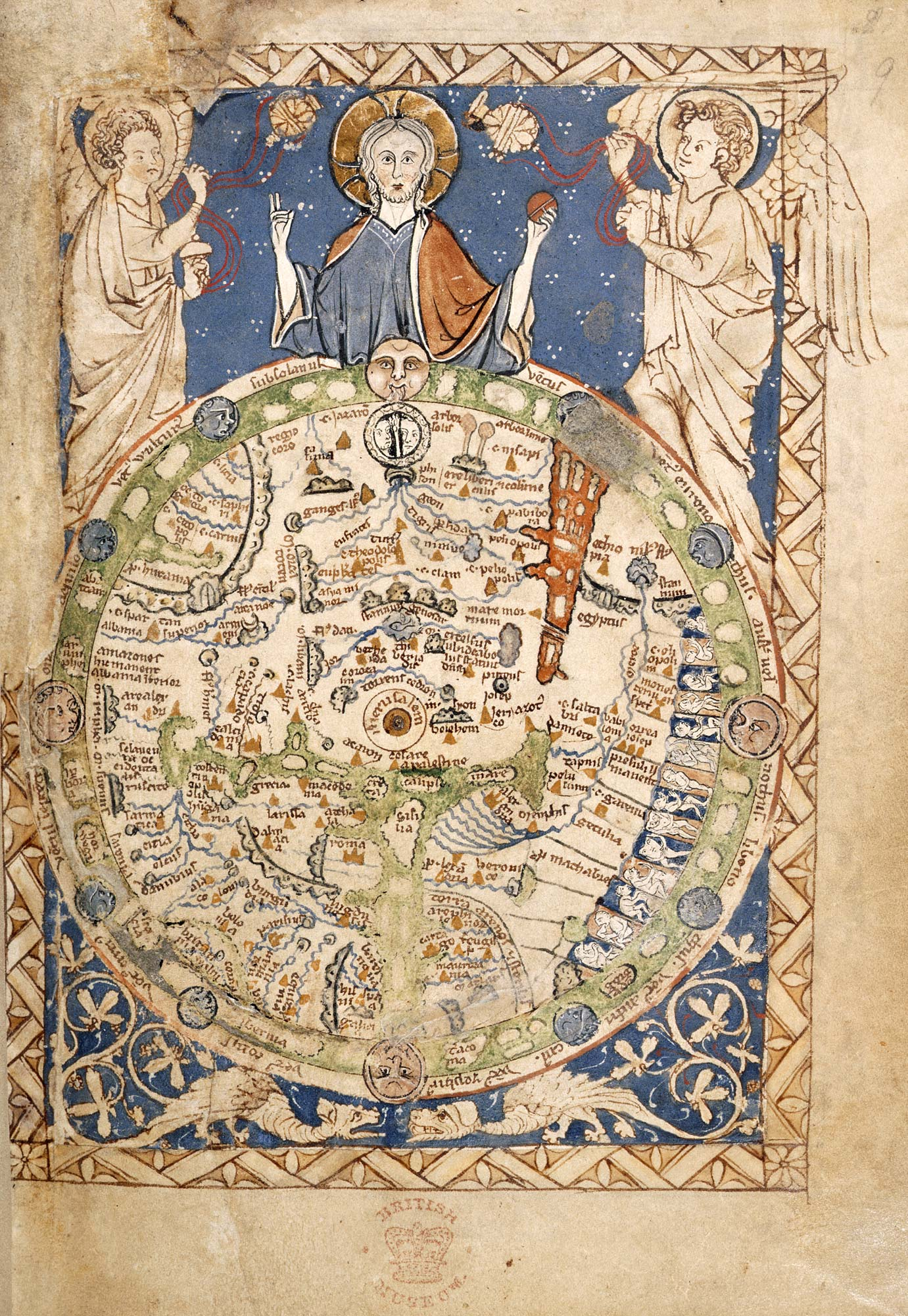 Psalter World Map   The British Library
