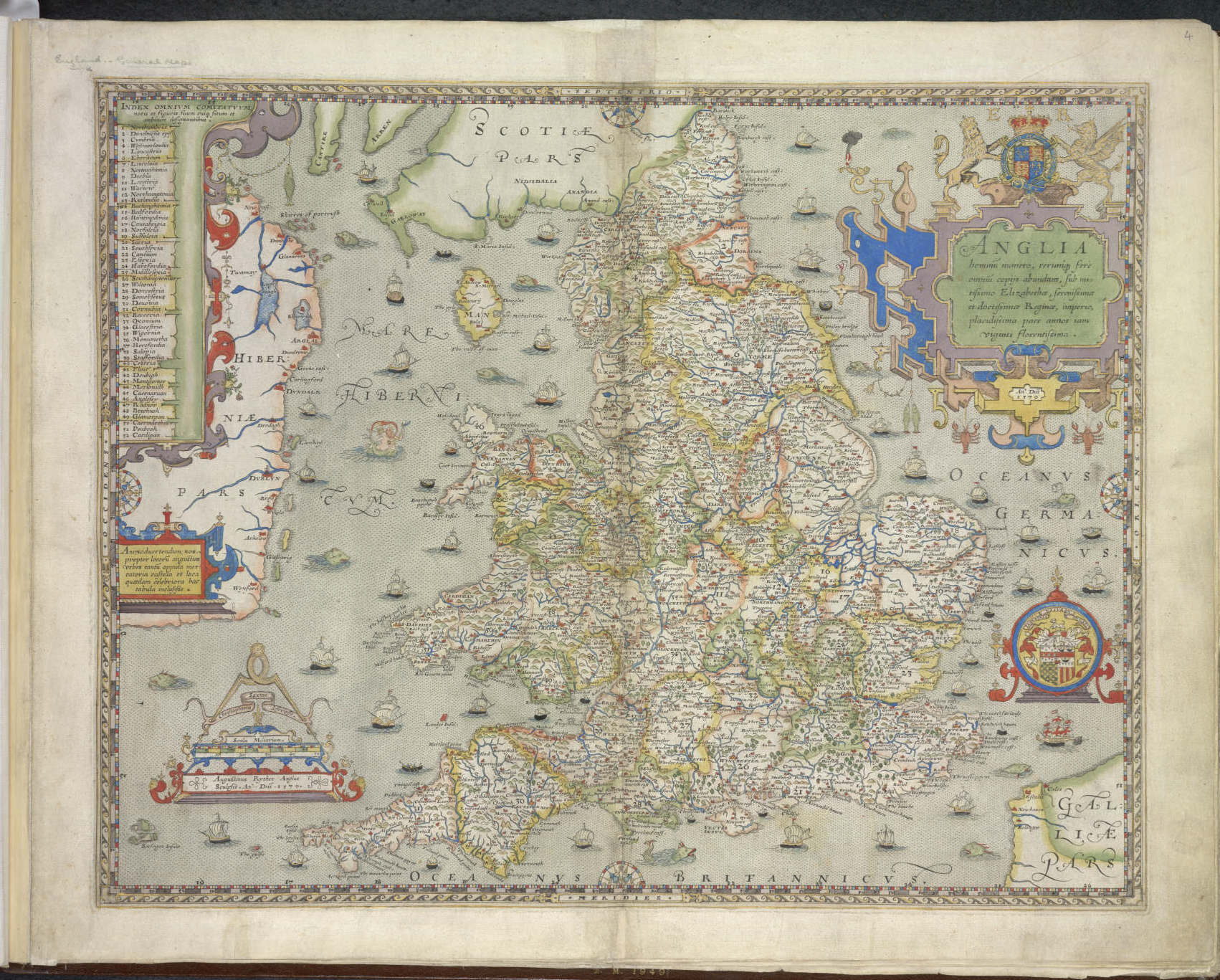 Christopher saxtons england and wales proof maps the british library gumiabroncs Choice Image