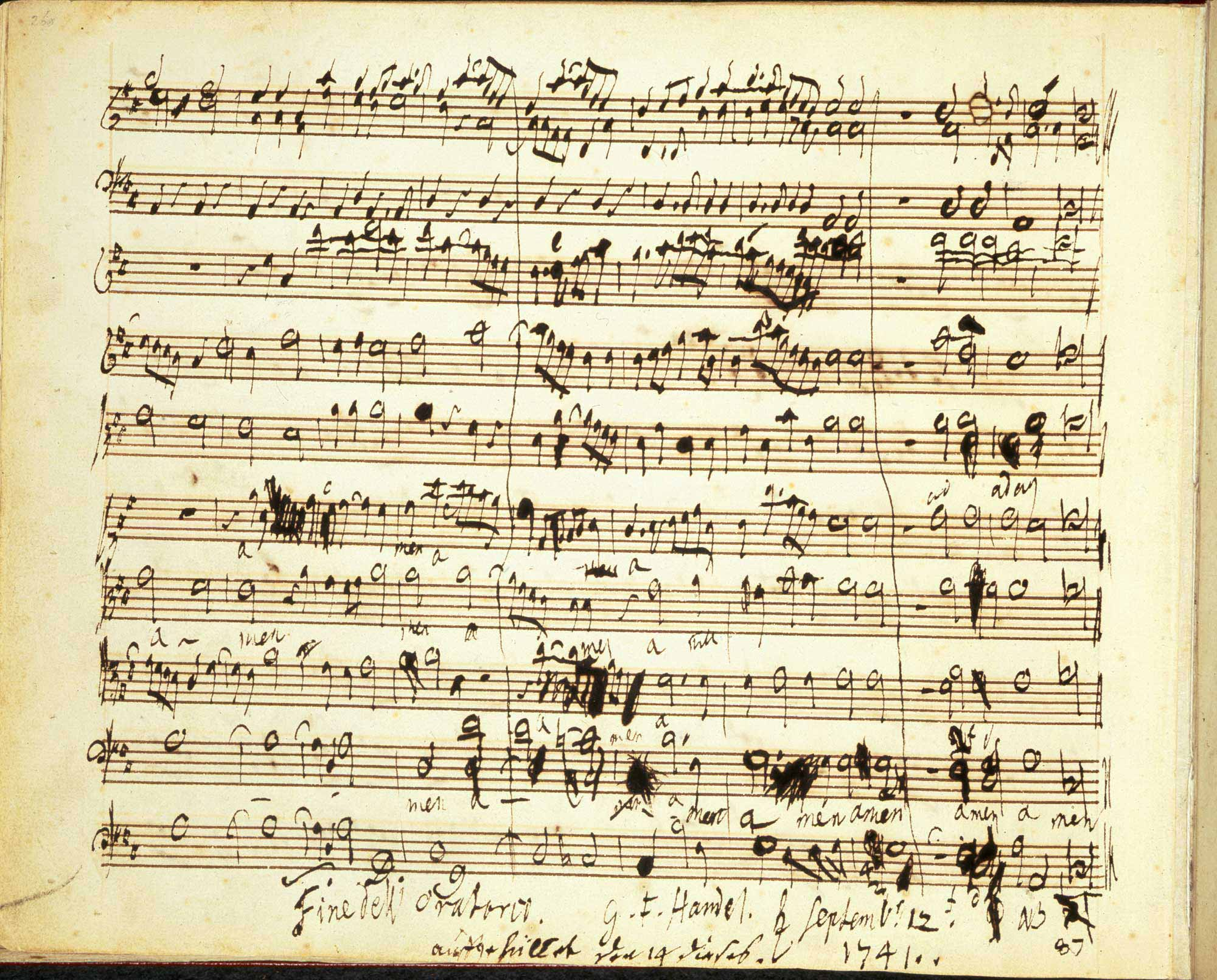 Handel's Messiah, f.2.
