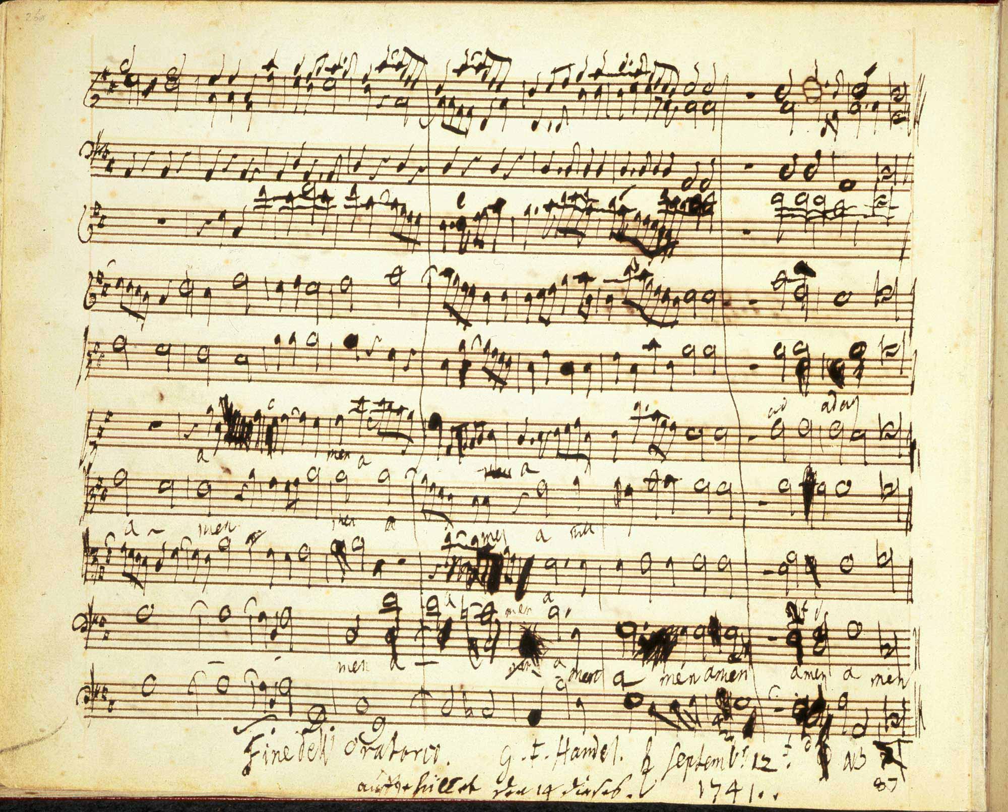 Handel's Messiah, f.2.