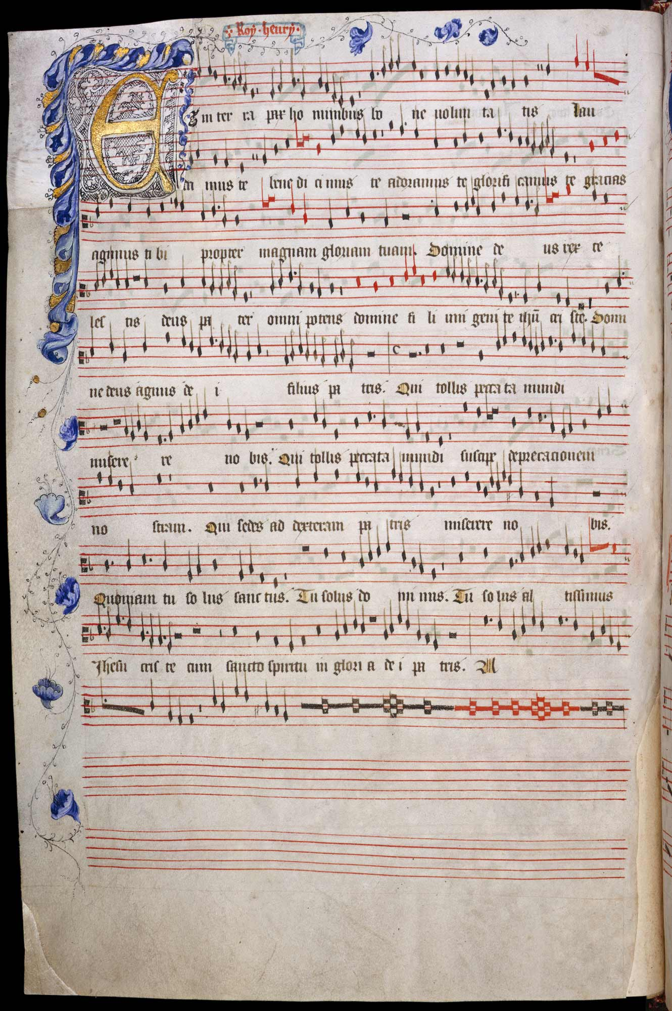 Old Hall Manuscript, f.12v