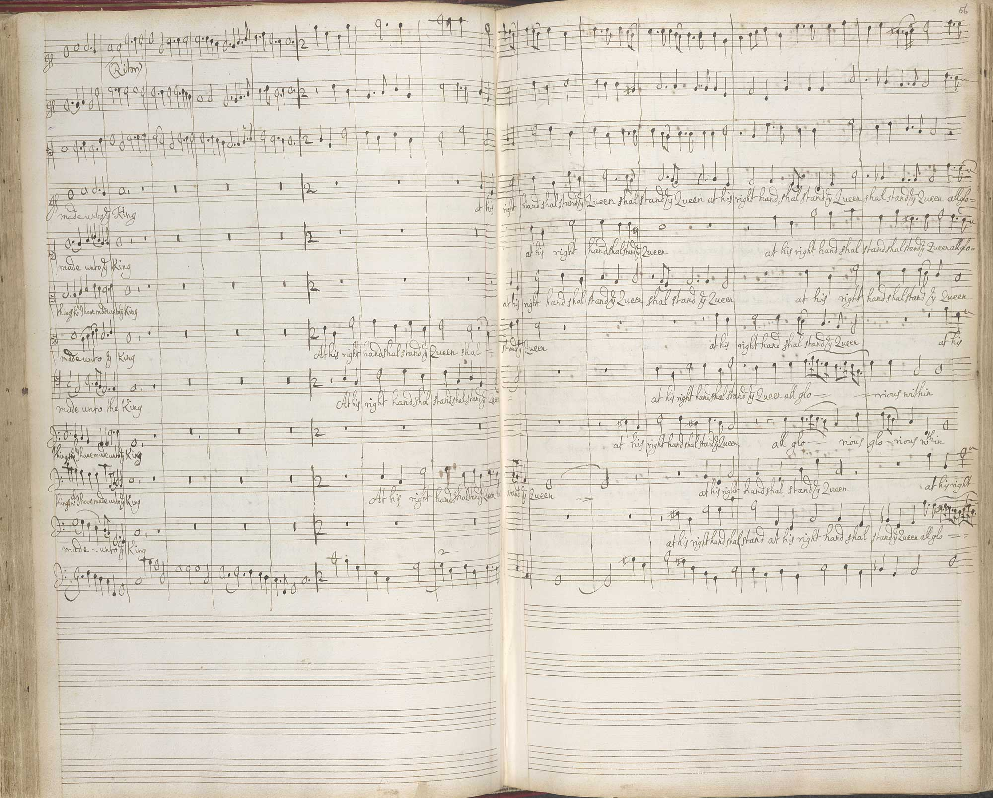 Henry Purcell's Autograph Score, f.55v-56