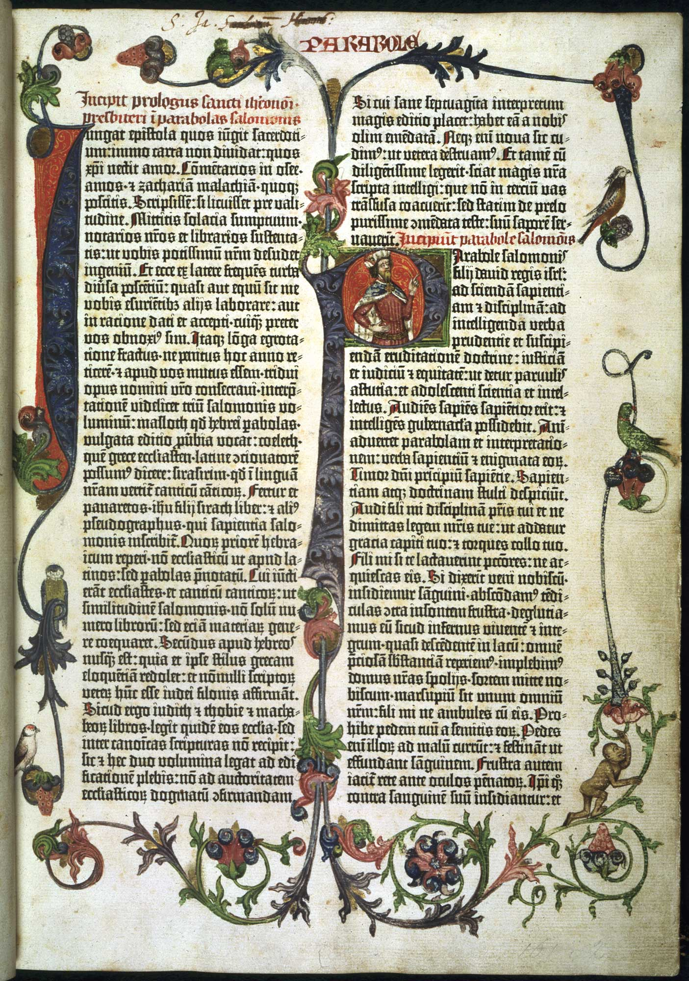 Title page of the Gutenberg Bible