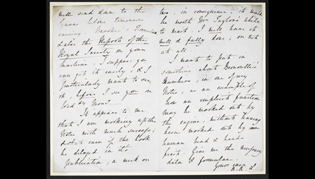 Ada Lovelace's letter to Charles Babbage