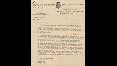 A letter headed from the Department of Scientific and Industrial Research to Dr Ashby