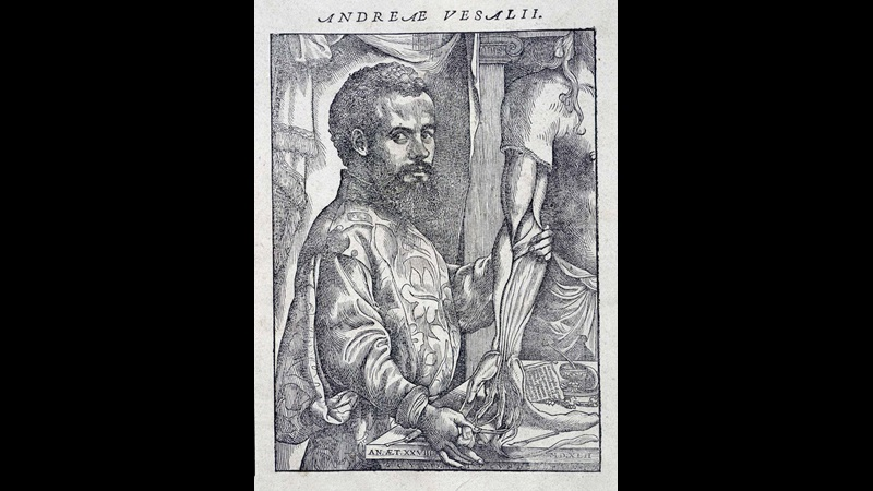 Title page of Vesalius's On the Fabric of the Human Body