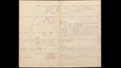 Anne McLaren note book featuring calculations and notes
