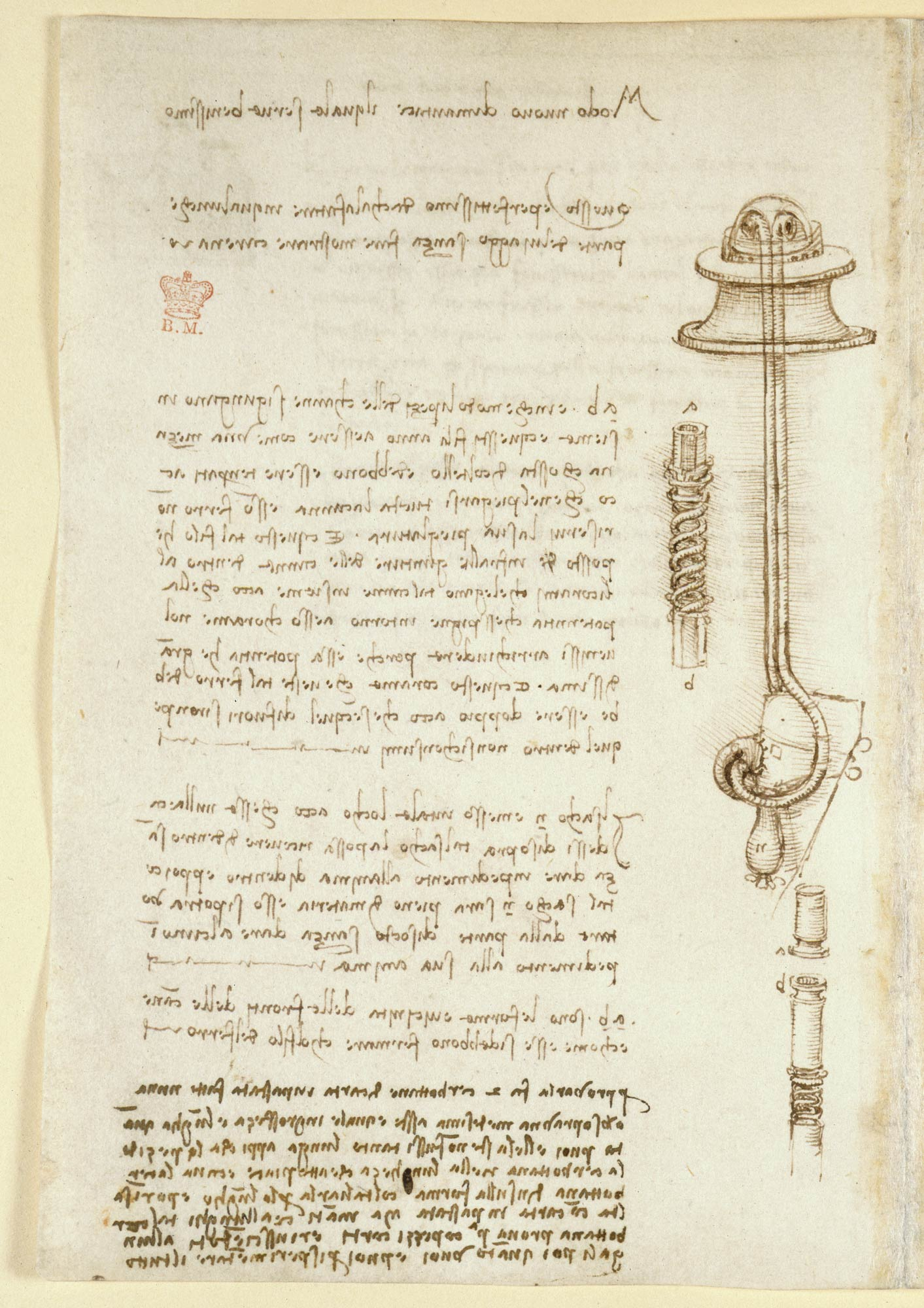 Study for an underwater breathing apparatus, f.24v