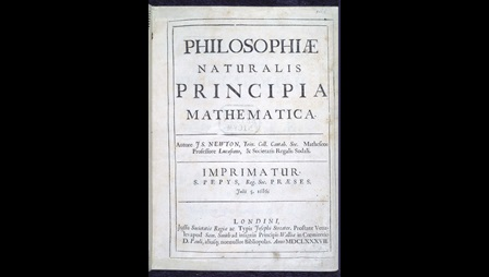 Title page of Sir Isaac Newton's Principia Mathematica