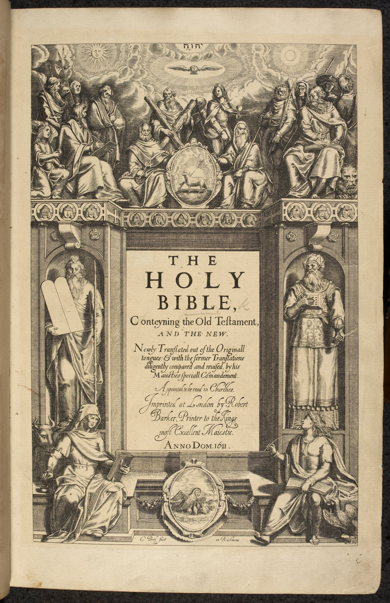 Frontispiece of King James Bible