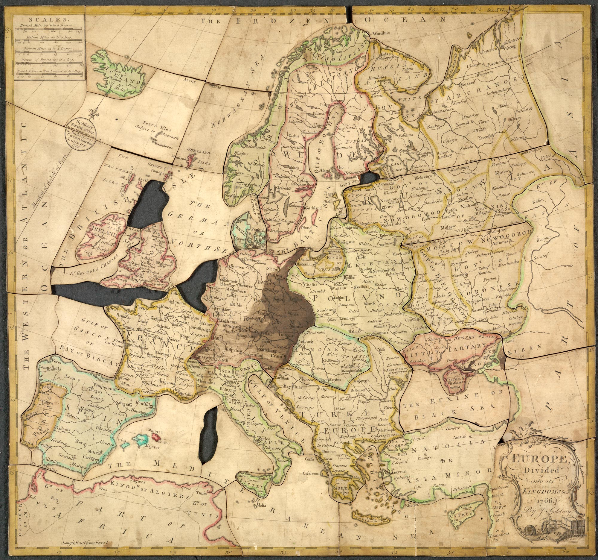 Map Of Uk Jigsaw.Jigsaw Puzzle Map Of Europe The British Library