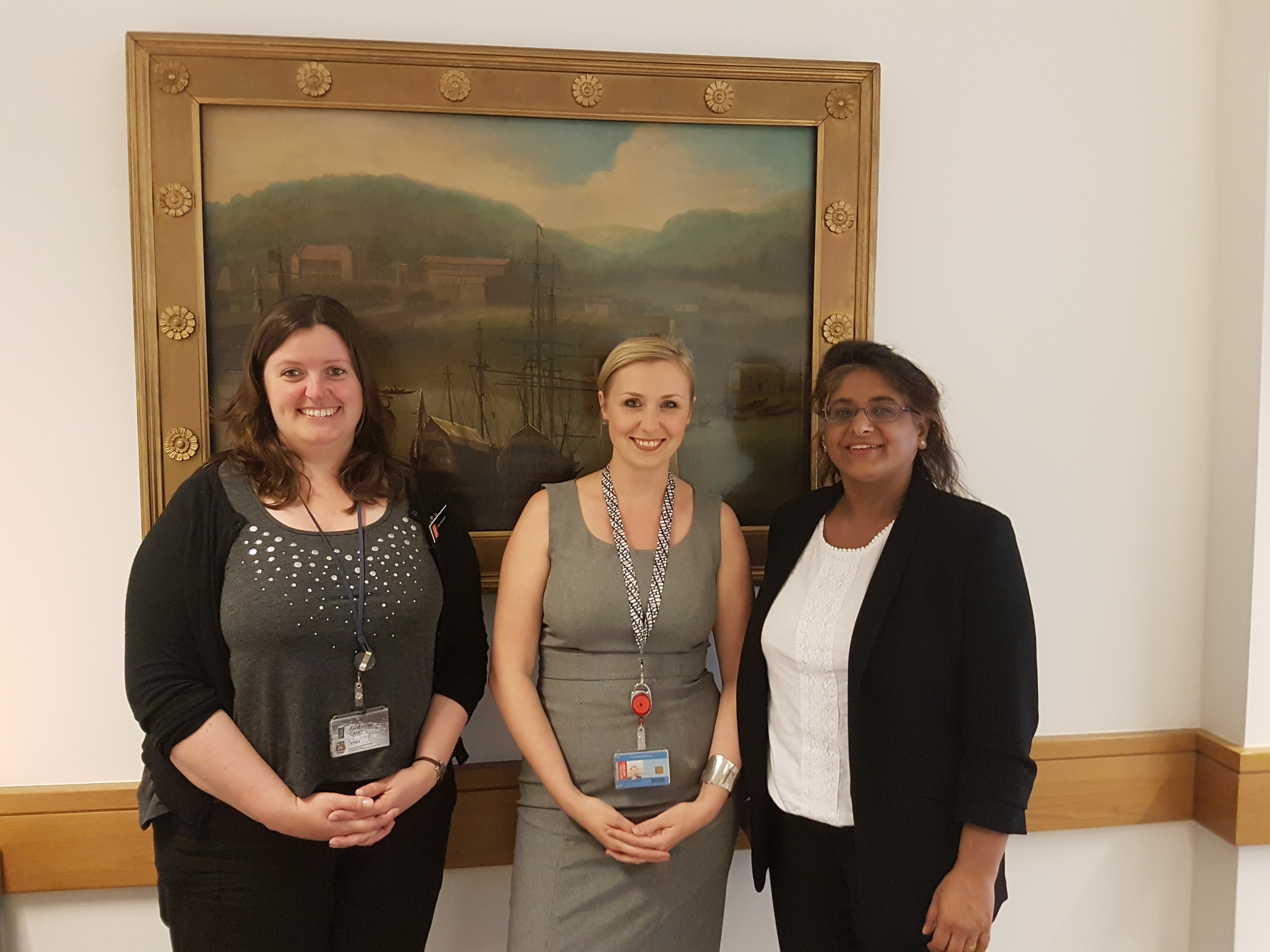 Our International Office team: (from left) Kate Marshall, Marcie-Jane Hopkins and Kirnn Kaur.