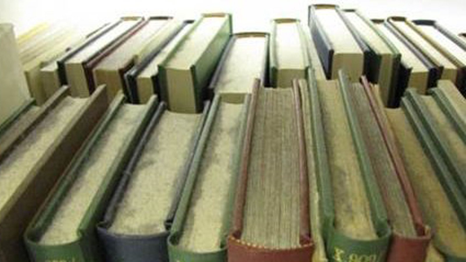 Dust covered books