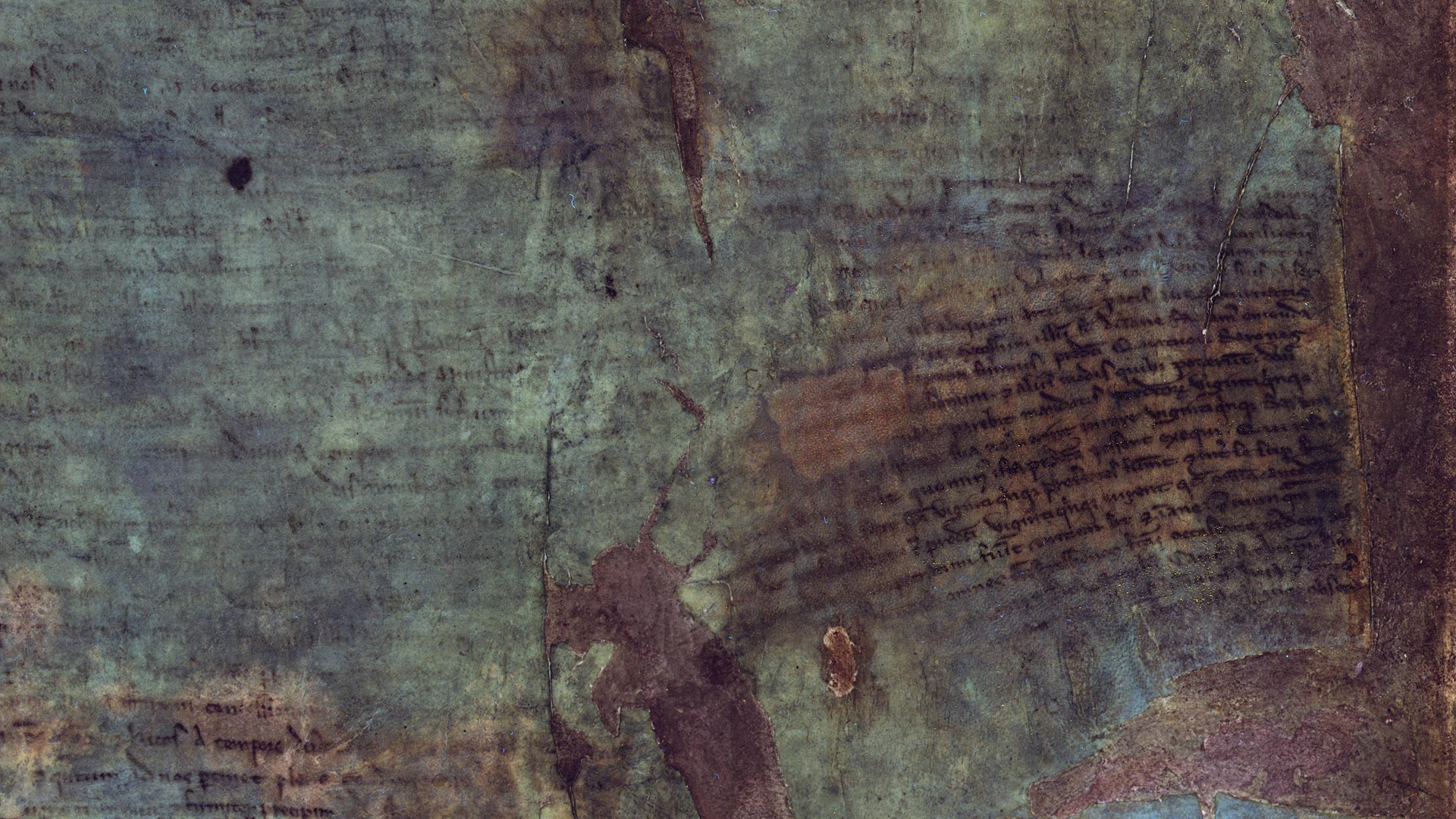 Multispectral imaging on the burnt Magna Carta