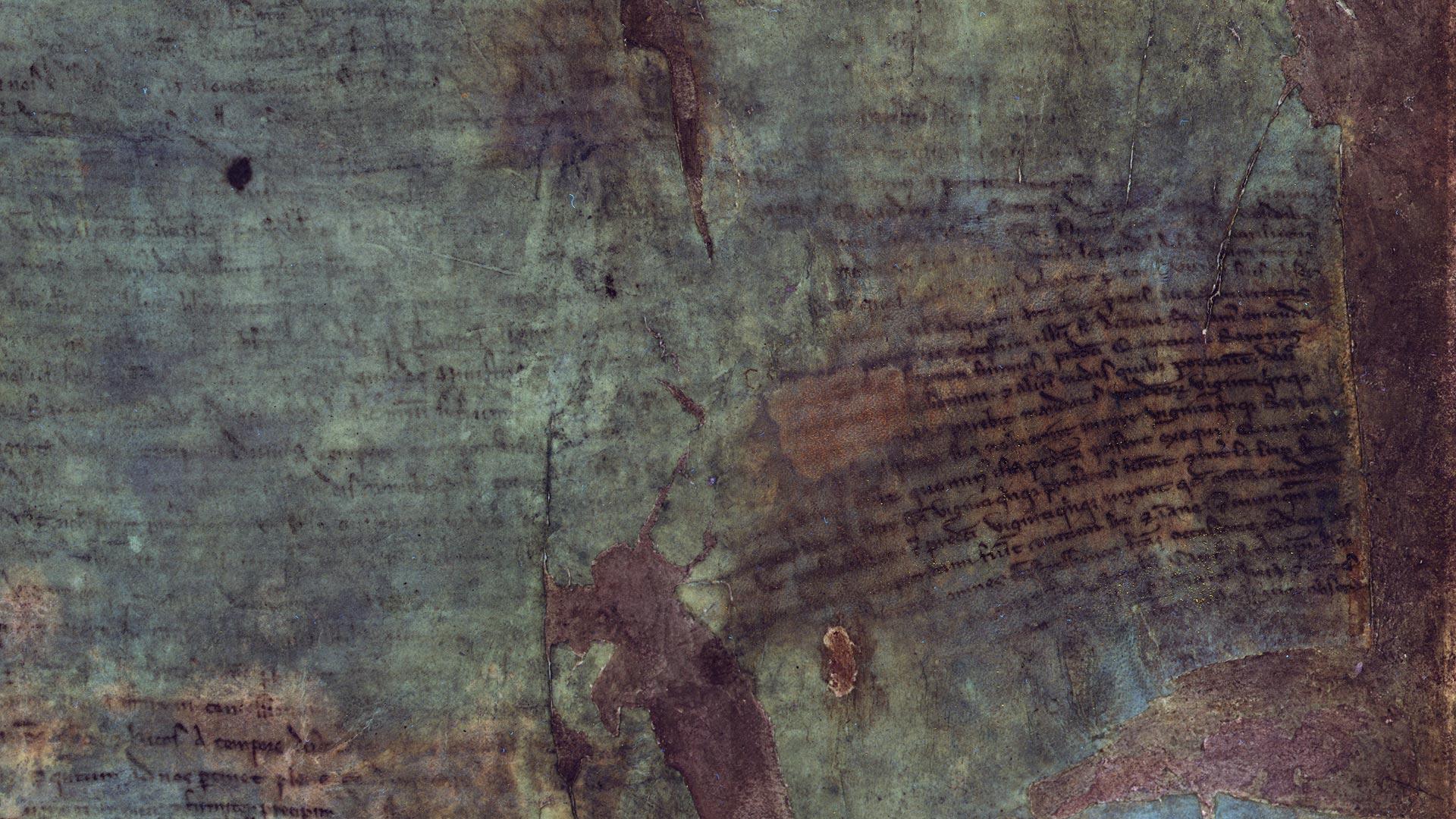 Multispectral imaging on the burnt Magna Carta