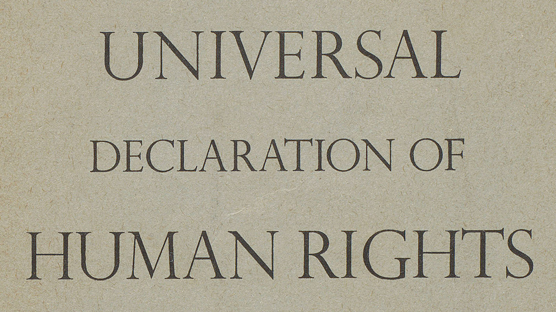 Human rights legislation