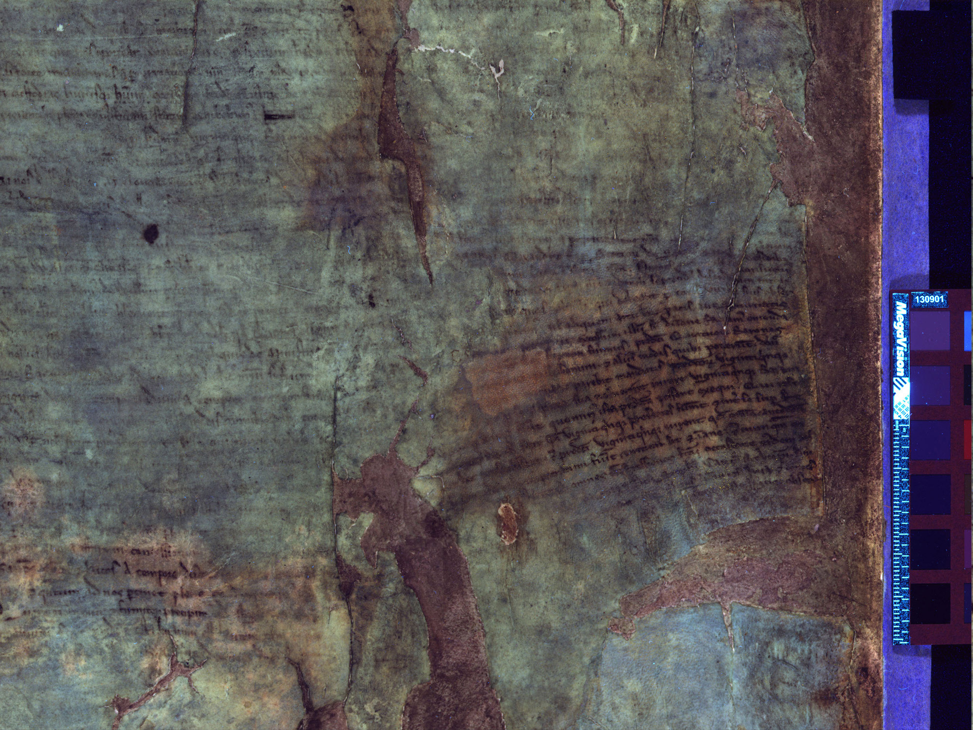 Burnt copy of Magna Carta with the seal attached