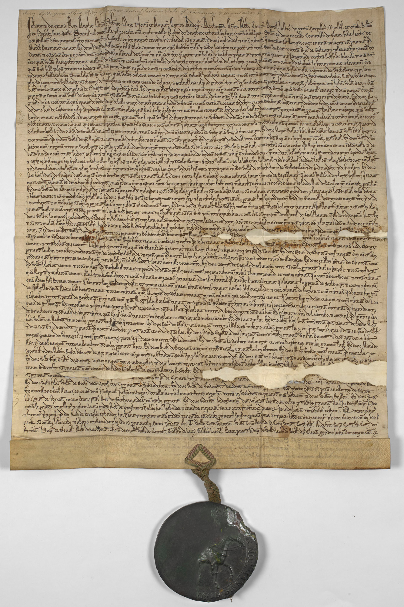 Charter of King John to Robert of Braybrooke