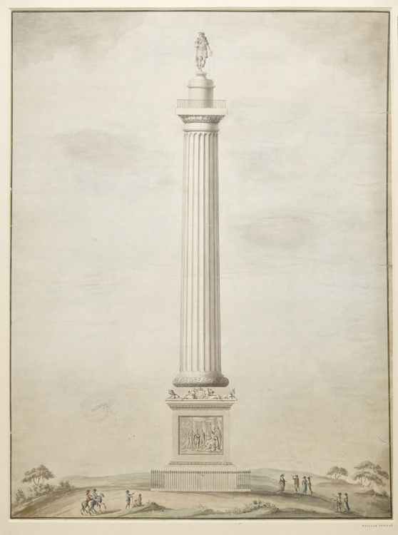 Design for a column with a statue of William III intended to be erected at Runnymede
