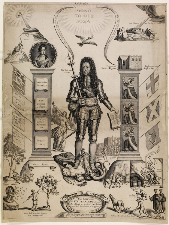 The Embleme of Englands distractions, 1690