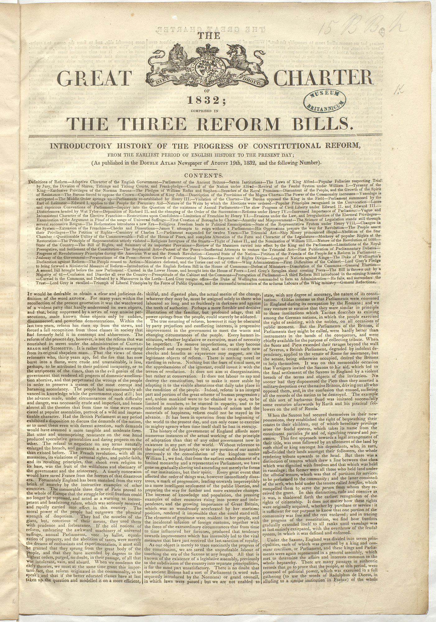 The Great Charter of 1832 - The British Library