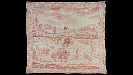 Handkerchief depicting the signing of Magna Carta