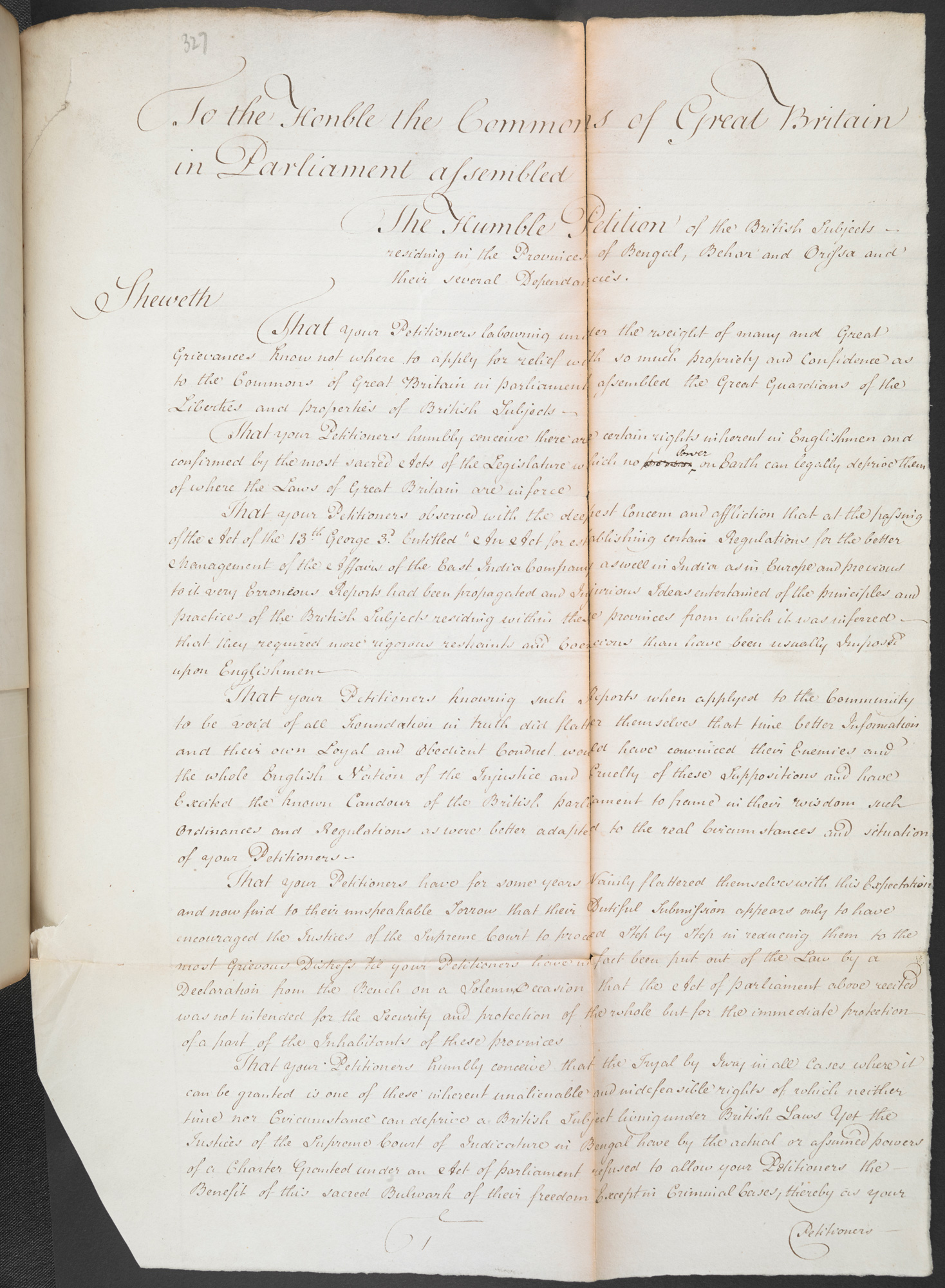 Humble Petition of the British Subjects