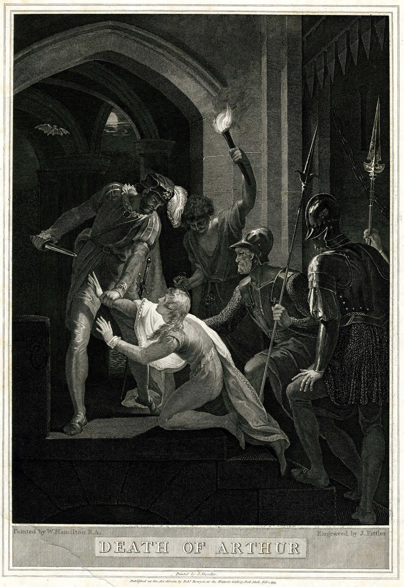 Image of the murder of Prince Arthur