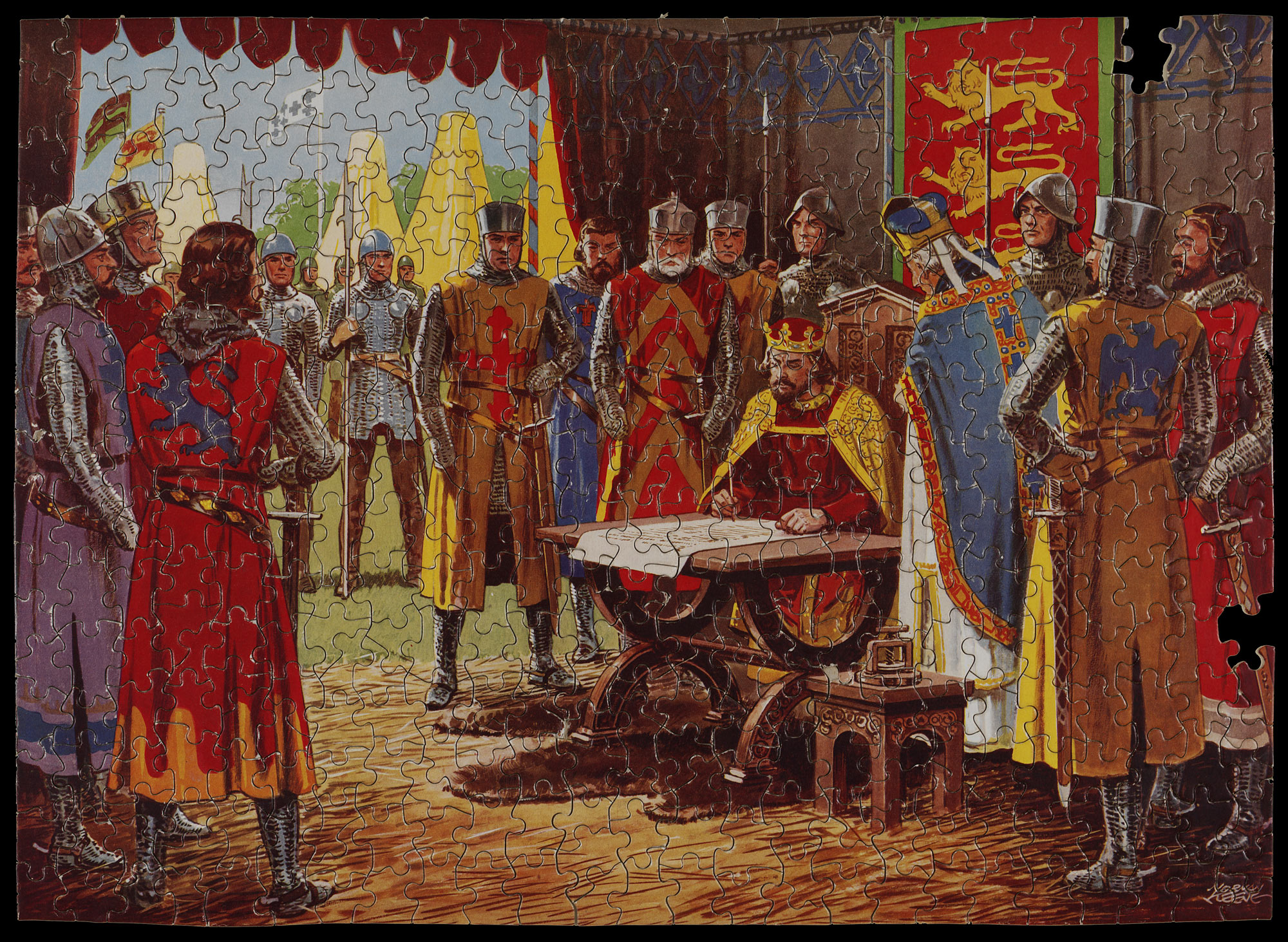 Jigsaw puzzle depicting the signing of Magna Carta