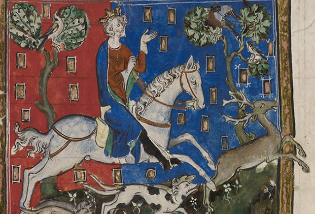 King John, hunting with his dogs