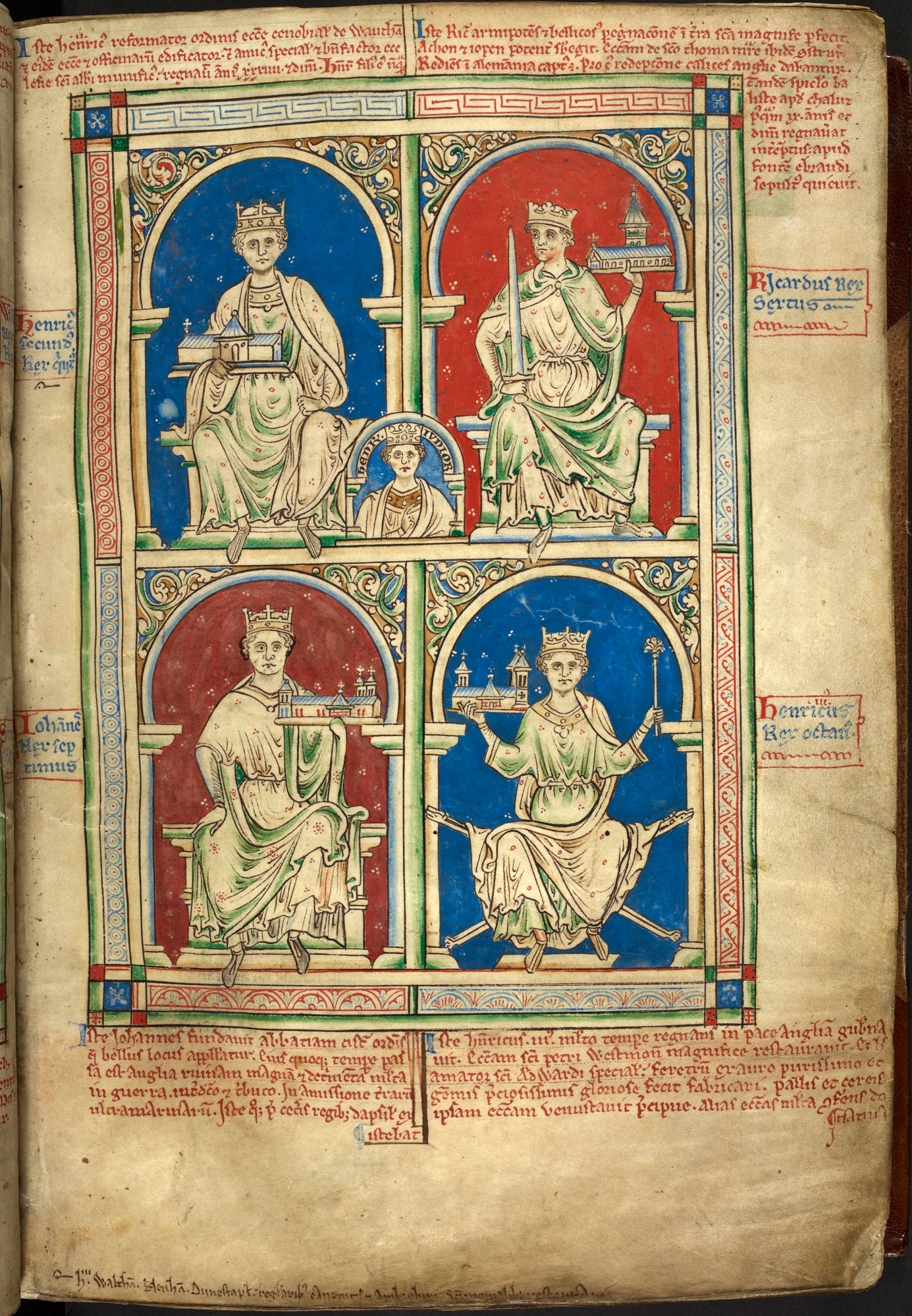 Portrait of King John from Matthew Paris's Historia Anglorum