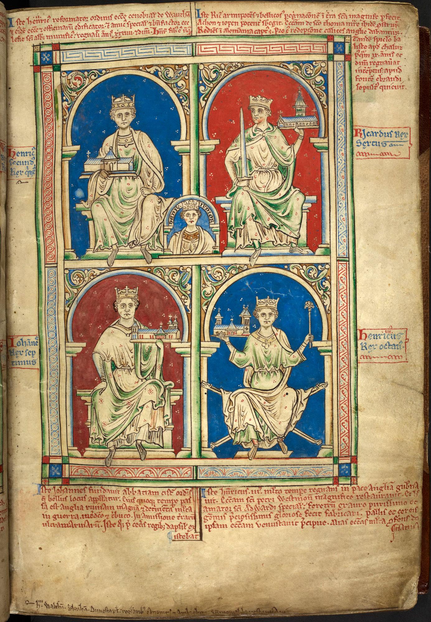 Portrait of King John from Matthew Paris's Historia Anglorum