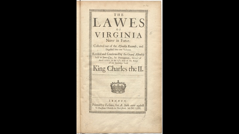 The Lawes of Virginia