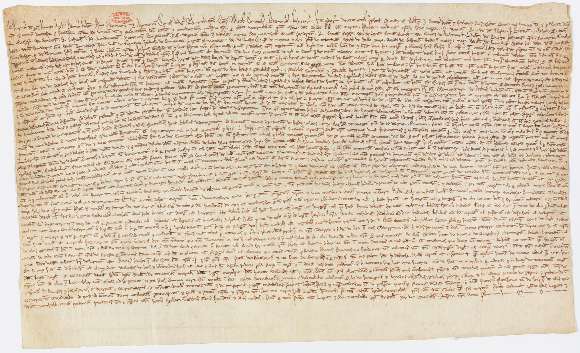 Magna Carta, 1216