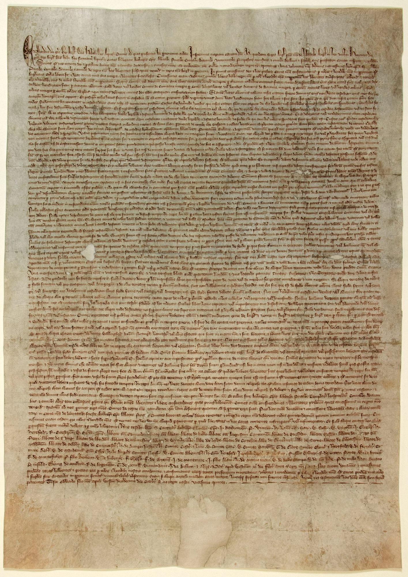 Magna Carta, 1297