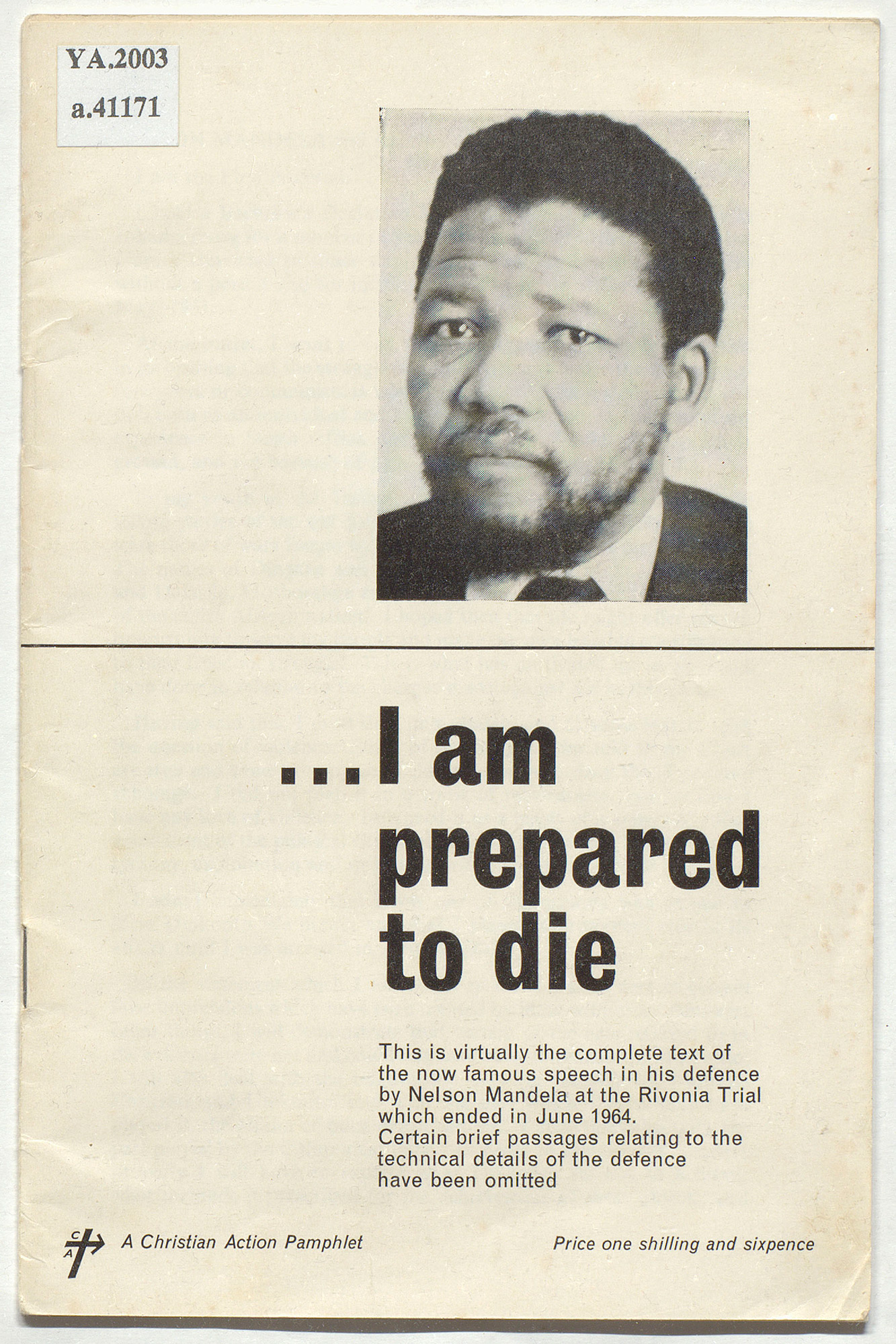 Nelson Mandela's speech 'I am prepared to die'