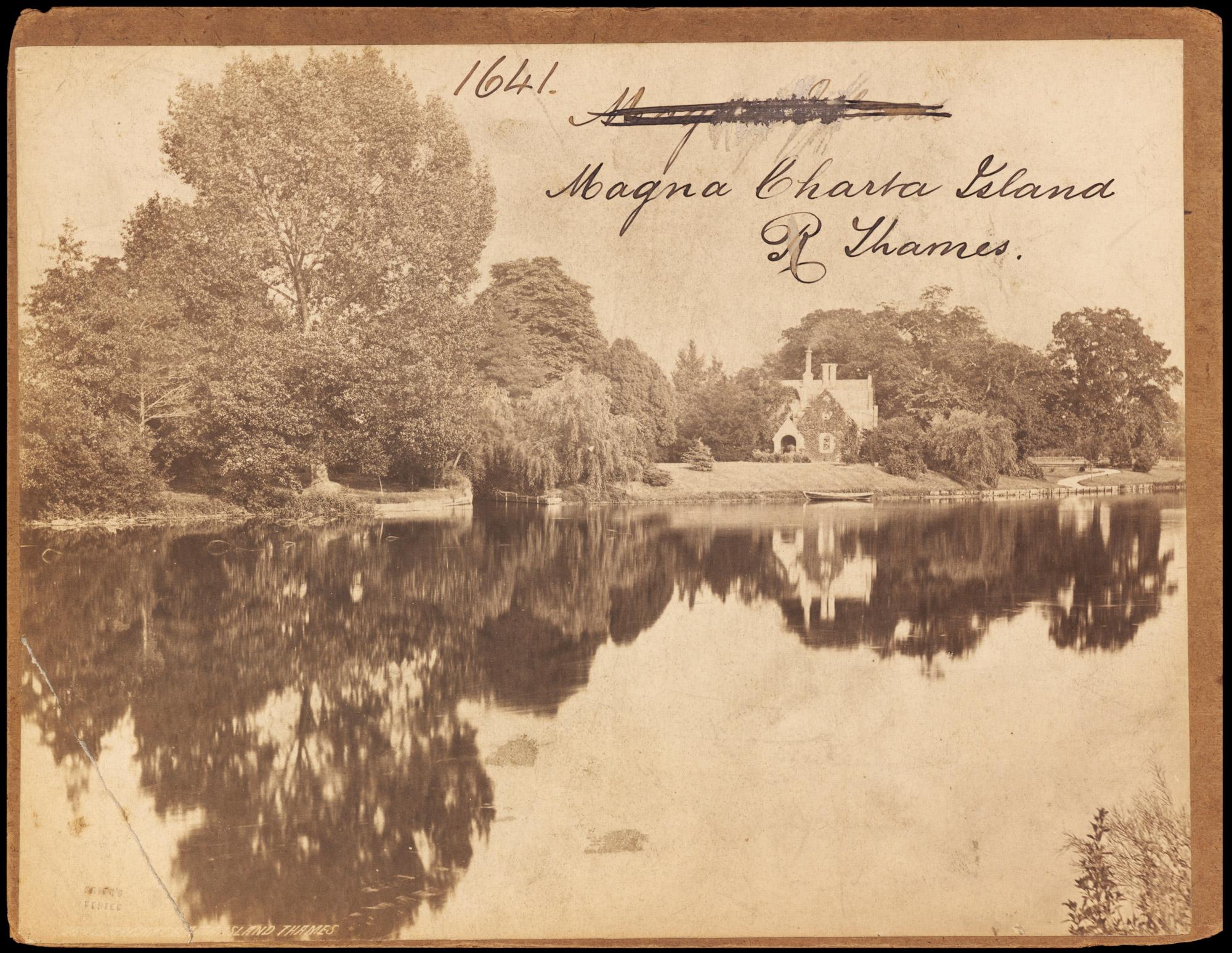 Photograph of Magna Charta Island