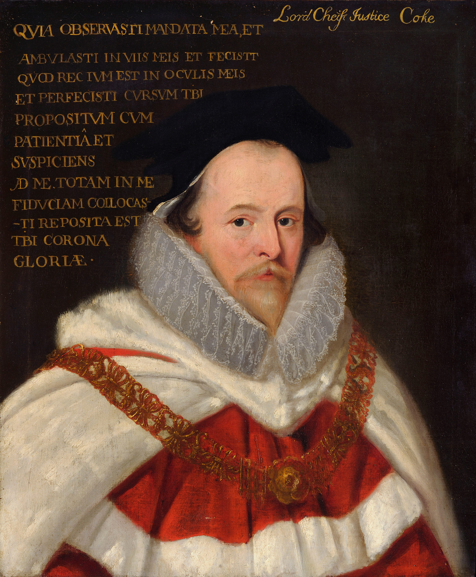 Portrait of Sir Edward Coke by an unknown artist