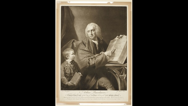 Print of 'Arthur Beardmore Common-Council Man of the City of London, Teaching his Son Magna Carta'