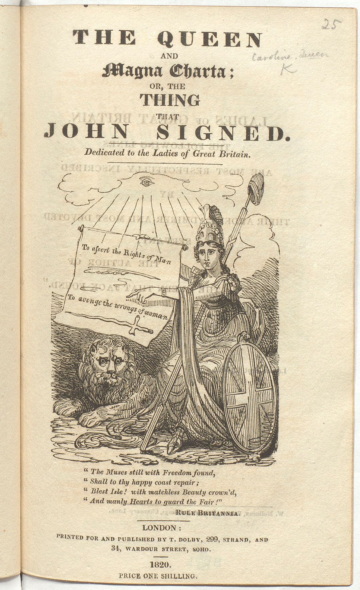 The Queen and Magna Charta; or that thing that John signed