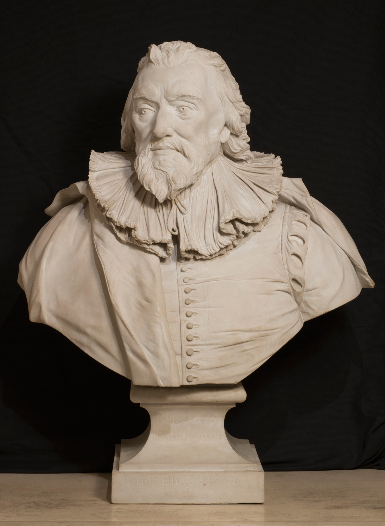 Reproduction of bust of Sir Robert Cotton