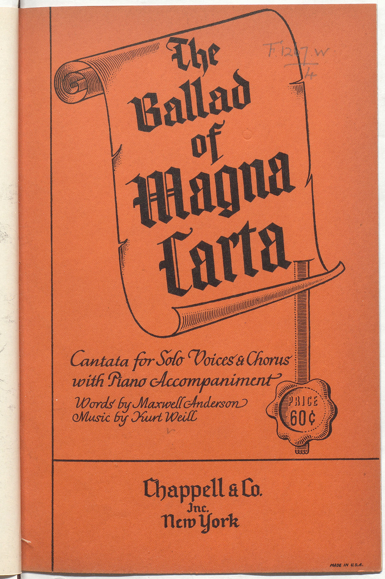 Score of The Ballad of Magna Carta