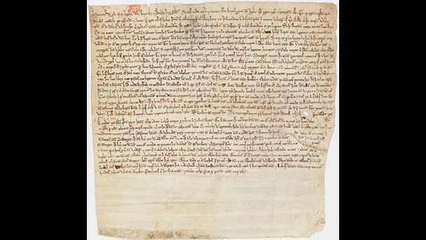 The Unknown Charter. Undecorated manuscript, neatly written text fills the top two thirds of the manuscript, the lowest third is blank