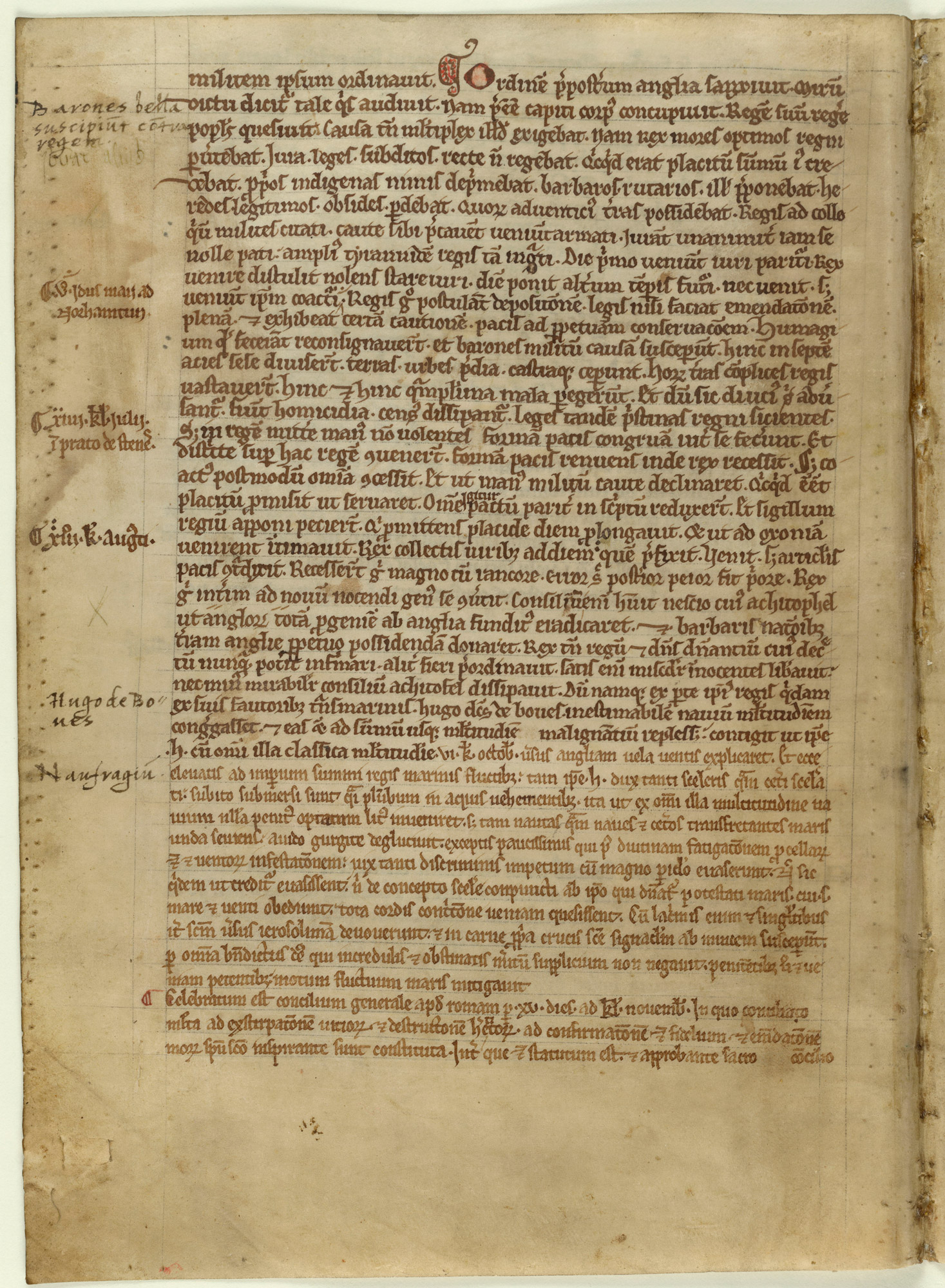 Verse account of Magna Carta in the Chronicle of Melrose Abbey