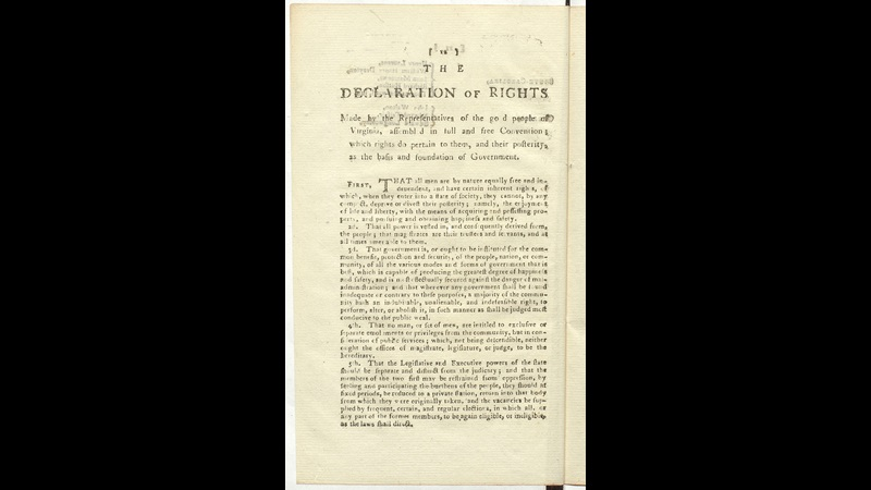 Virginia's Declaration of Rights