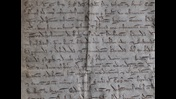 Extract of The will of King John. Handwritten page
