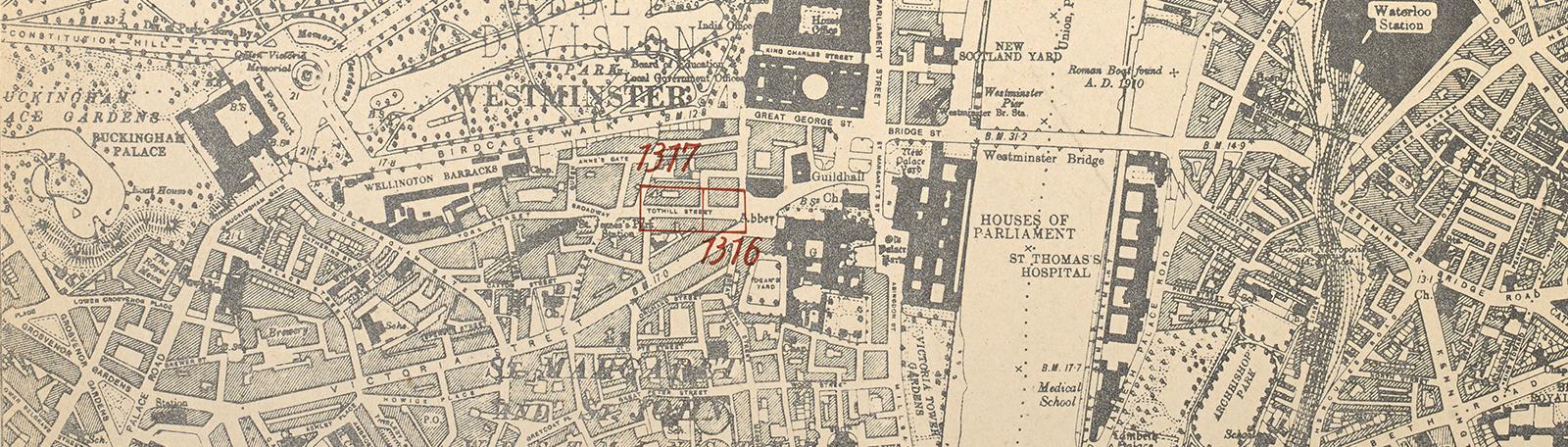 20th century London maps banner - London Mayfair Square (CC.5.a.555.)